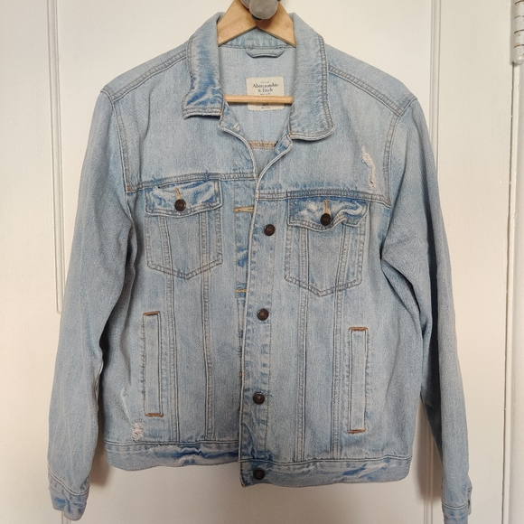 Abercrombie and Fitch Oversized Jean Jacket